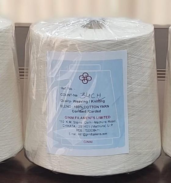 100% cotton combed ring spun yarns