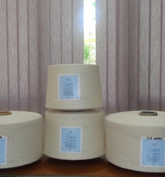 100% cotton carded ring spun yarns